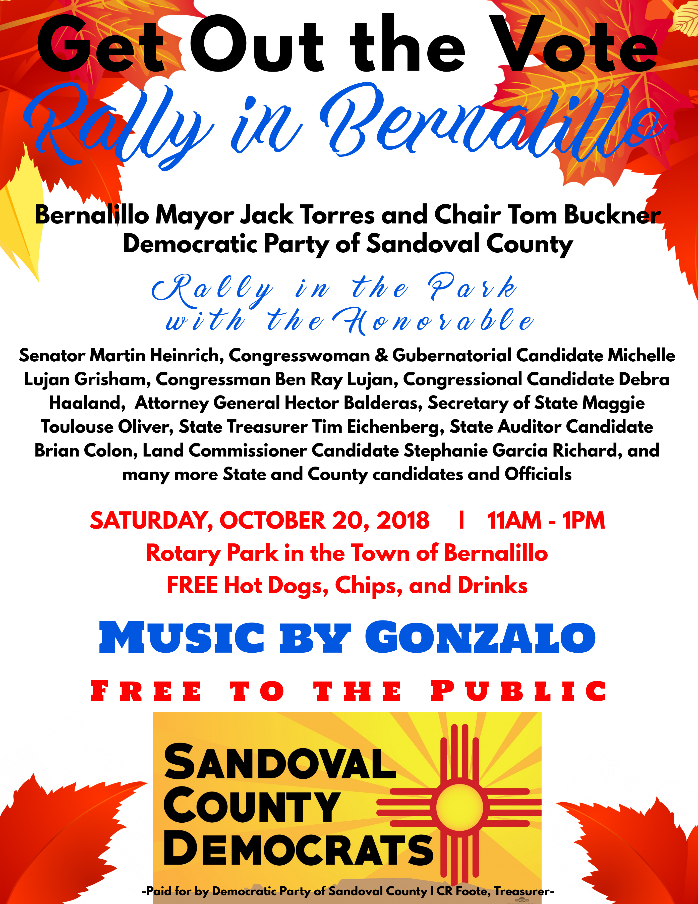Get Out the Vote Rally in Bernalillo @ Bernalillo | New Mexico | United States