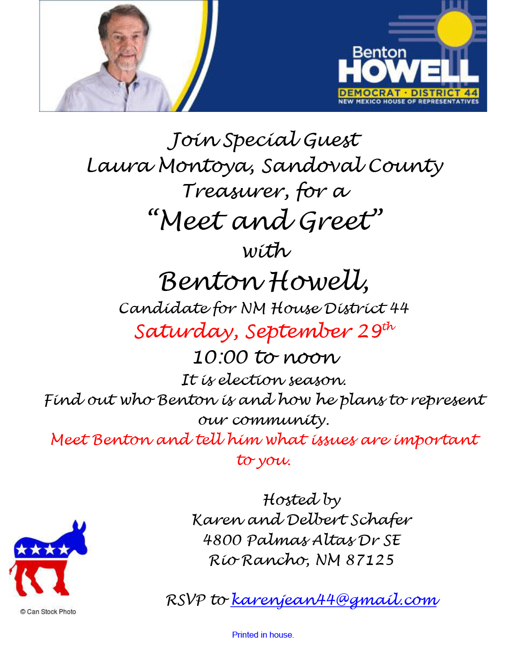 Meet and Greet with Benton Howell @ Rio Rancho | New Mexico | United States