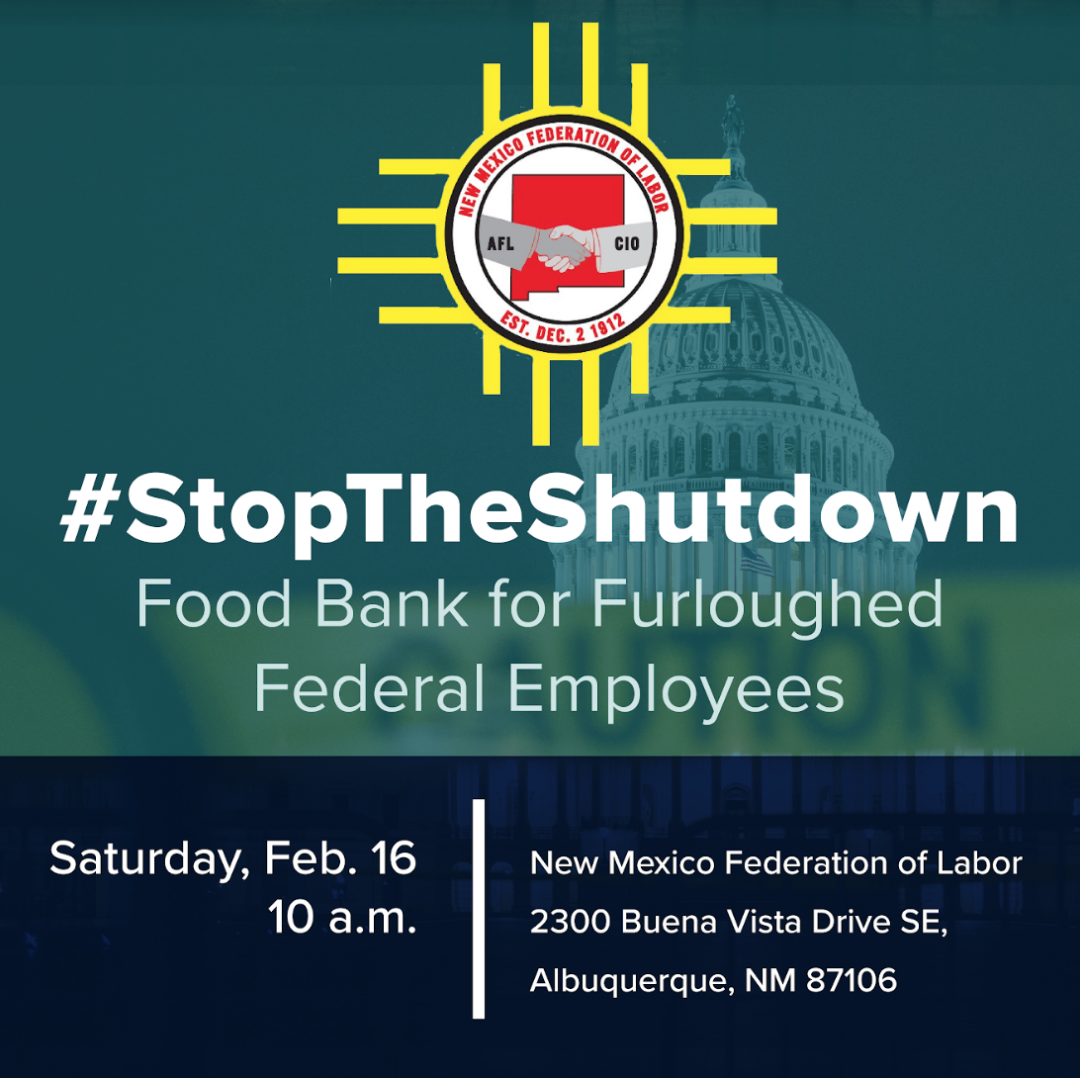 Stop The Shutdown Food Bank @ NM Federation of Labor   Albuquerque   New Mexico   United States