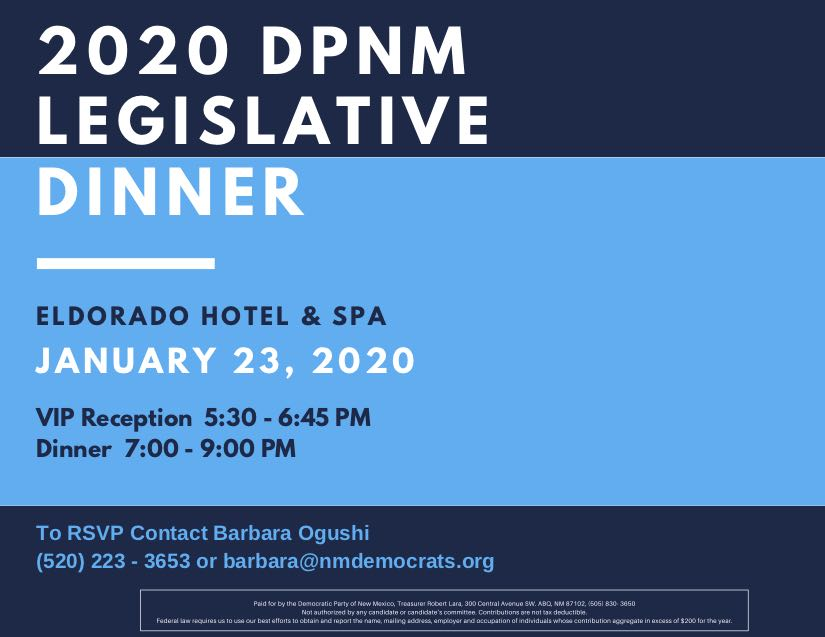 2020 Legislative Dinner @ El Dorado Hotel | Santa Fe | New Mexico | United States