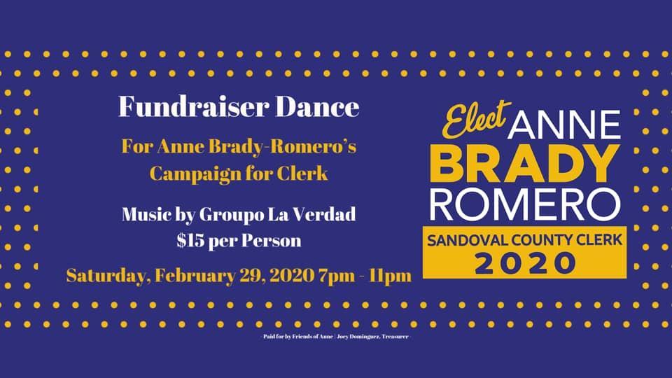 Anne Brady Romero - Fundraiser Dance @ Bernalillo   New Mexico   United States