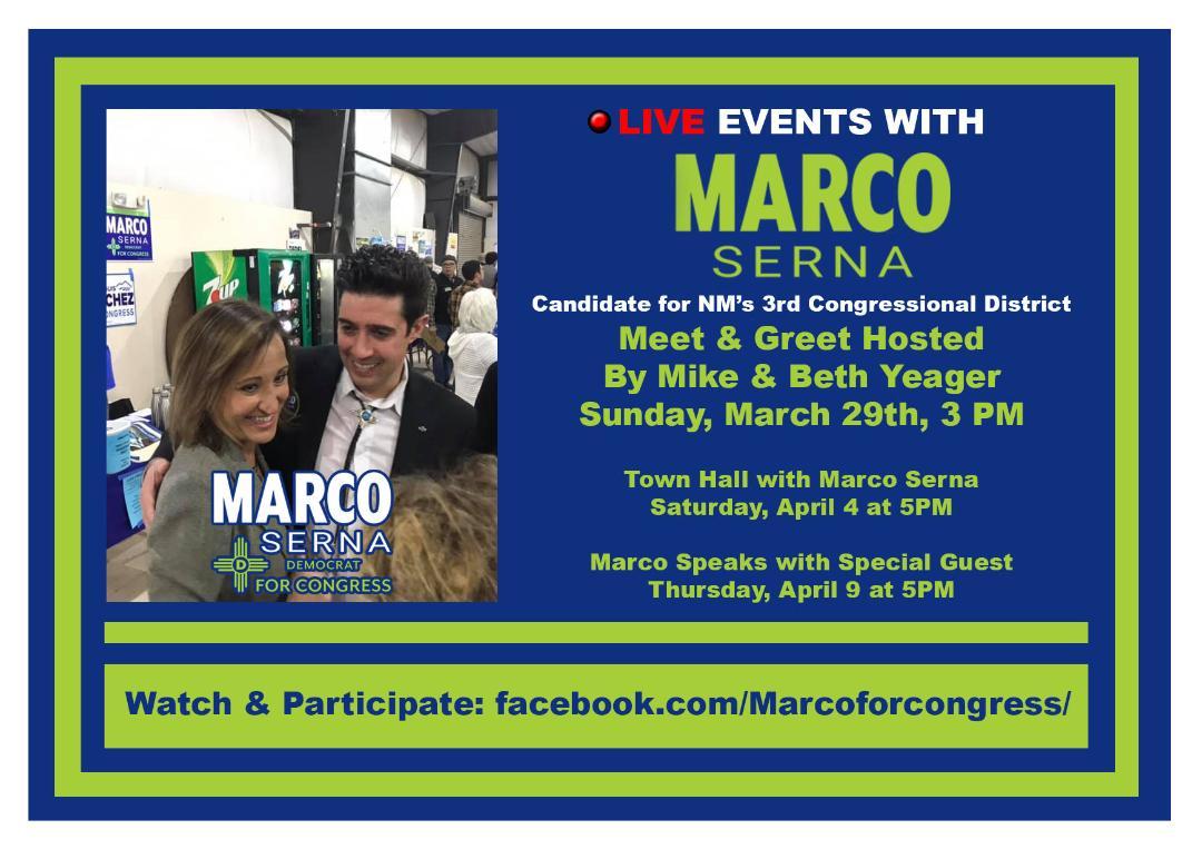 Marco Serena - CD 3 Candidate Meet and Greet @ https://www.facebook.com/Marcoforcongress/