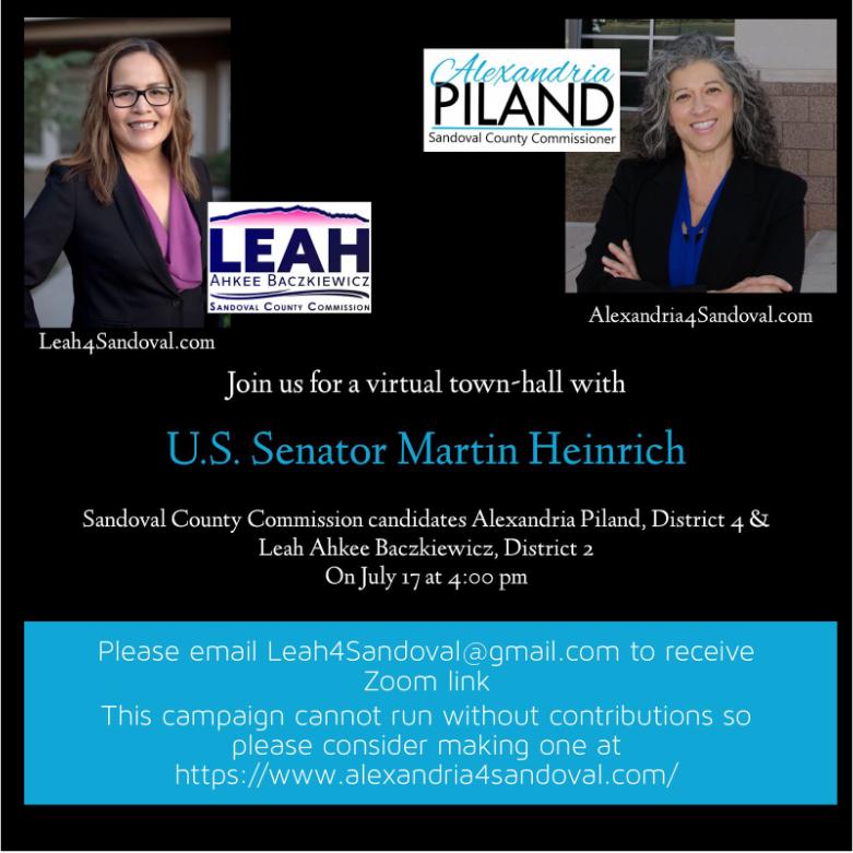 Leah Ahkee Baczkiewicz and Alexandria Piland Virtual Town Hall