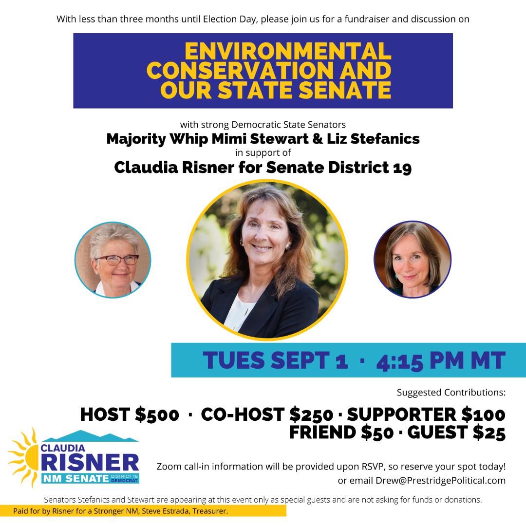 Claudia Risner, NM Senate District 19 Fundraiser