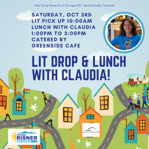 Lit Drop and Lunch with Claudia Risner - Candidate for NM Senate District 19