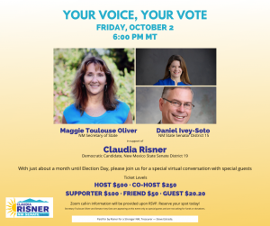 Your Voice, Your Vote - Claudia Risner - Candidate for NM Senate District 19